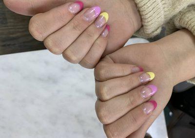 Manicure_yellowredpink